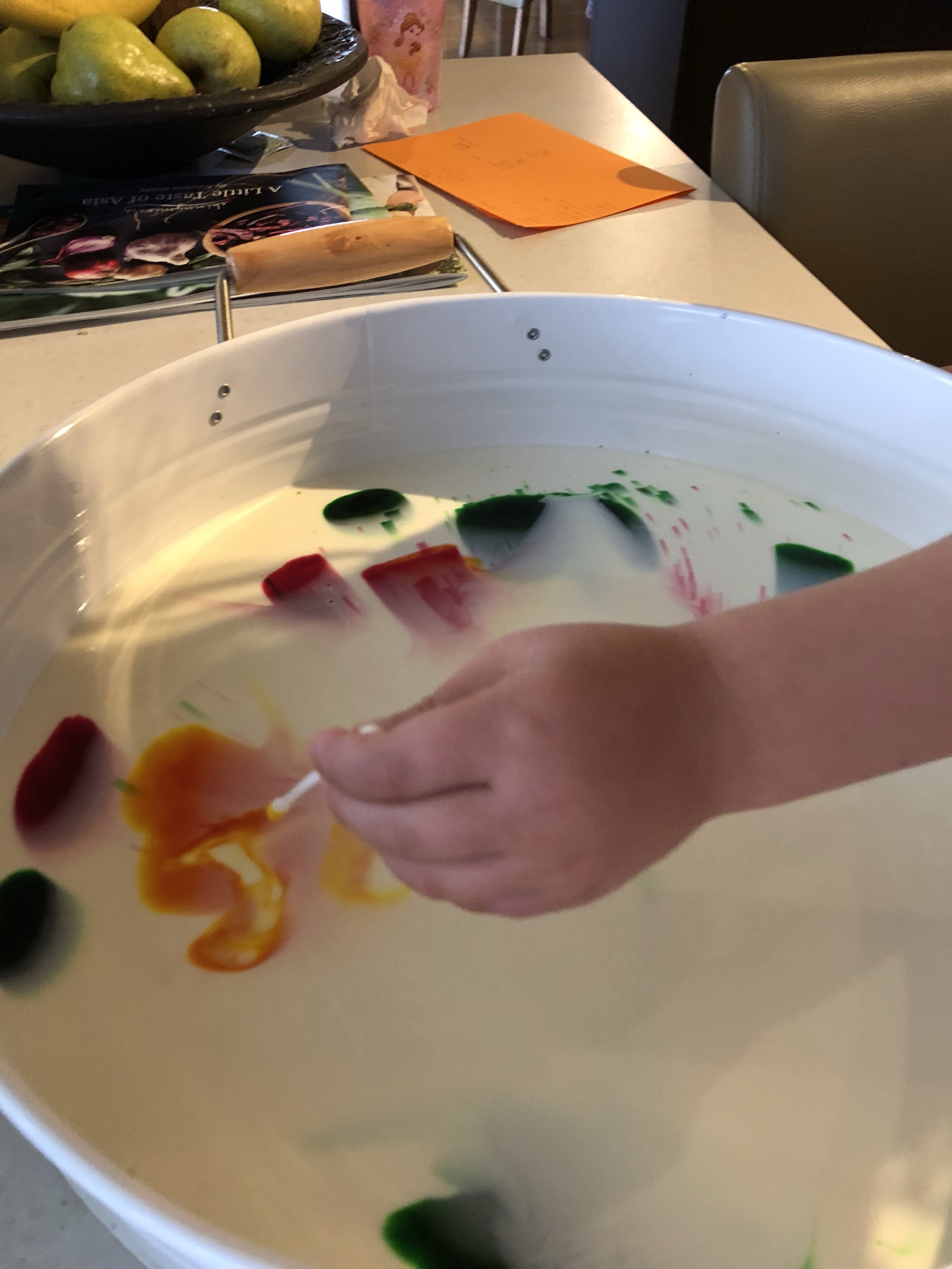 contact dishwashing liquid with milk