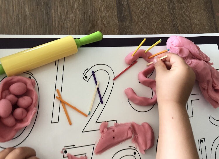 Letter Basics playdough Mat