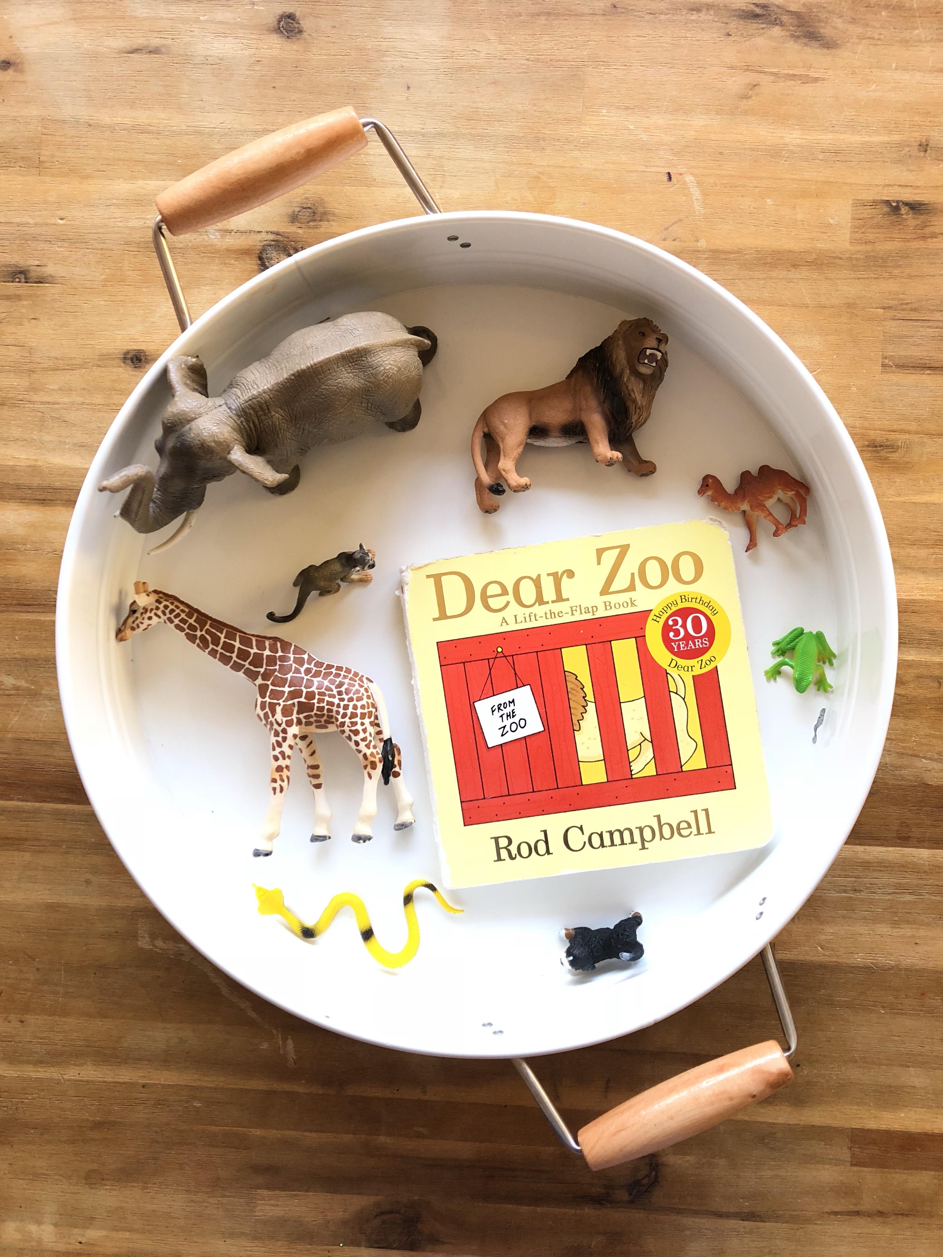 Dear Zoo Story Tray