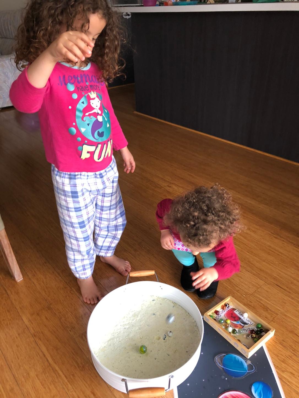 Taste safe sensory play moon dust toddler