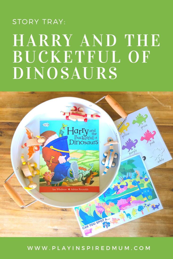 Harry and the Bucketful of dinosaurs story tray