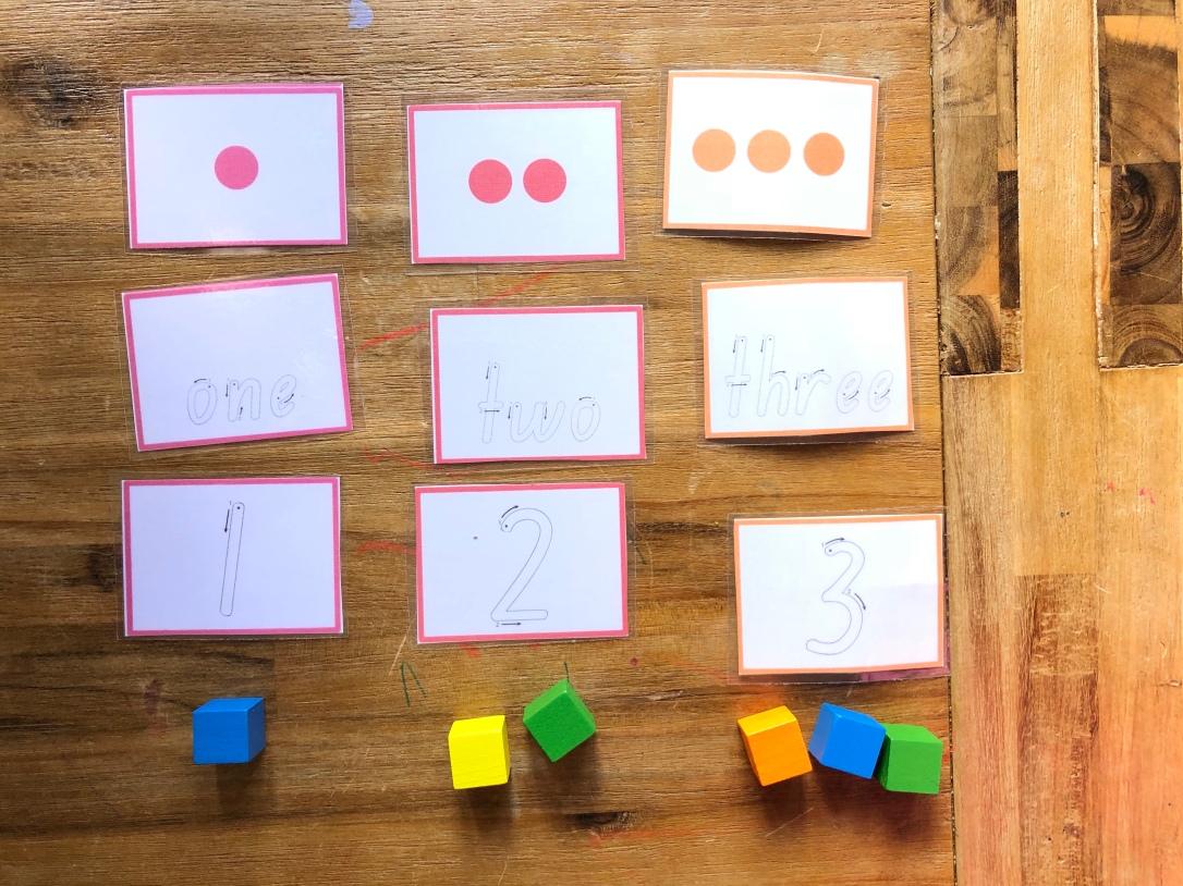 Letter Basics Number Match game