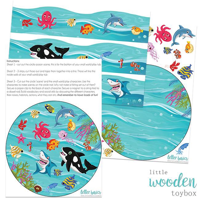 Ocean small world tray liner