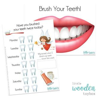 Letter Basics Brush Your Teeth Activity