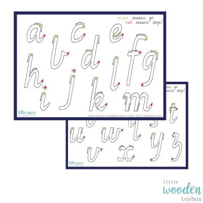 Letter Basics ABC Play Dough Mat