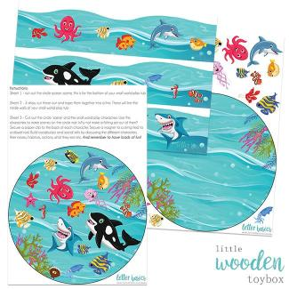 Letter Basics Ocean Small World Tray Liner