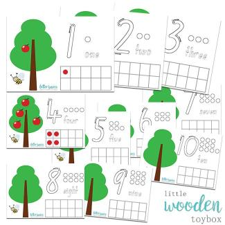 Letter Basics Tree Math Activity