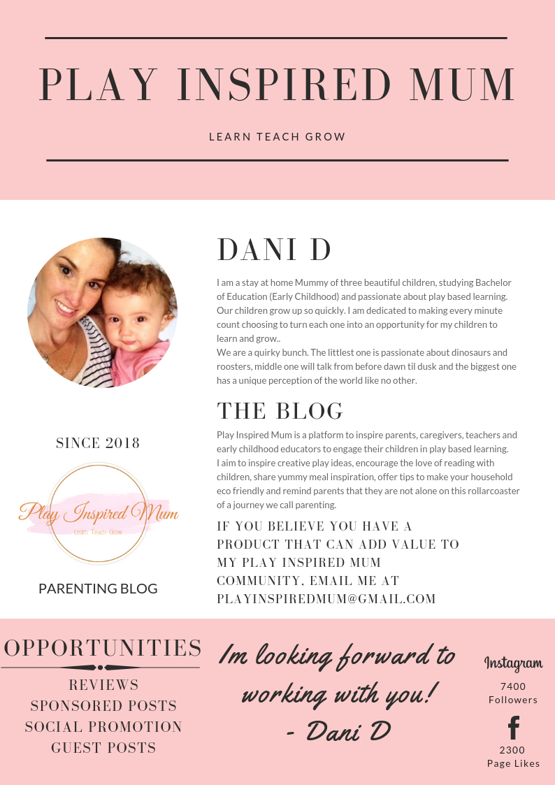 Play Inspired Mum Media Kit