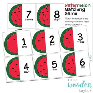 Letter Basics Watermelon Matching Game
