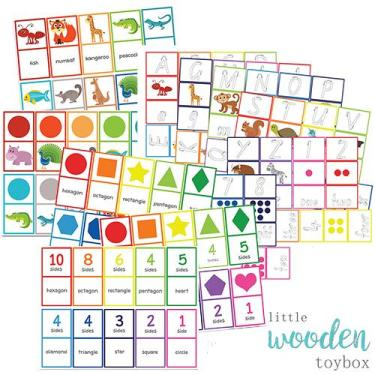 Letter Basics Matching Game and Domioes
